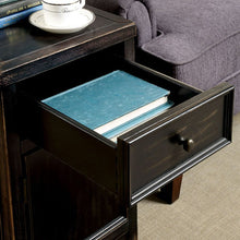 Load image into Gallery viewer, Meadow CM4327T Transitional Antique Black Finish Side Table