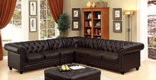Load image into Gallery viewer, Furniture of America CM6270BR Stanford Brown Sectional Sofa Set