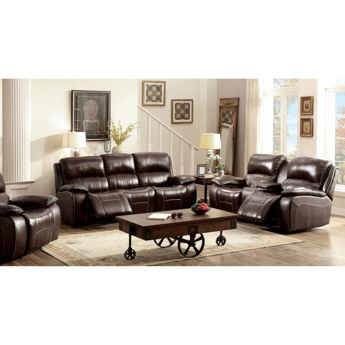 Furniture of America CM6783BR-SF Ruth Transitional Brown Sofa Set