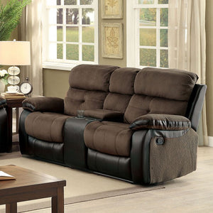 Furniture of America CM6870-LV Hadley I Transitional Brown Loveseat