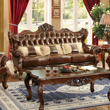 Load image into Gallery viewer, Furniture of America CM6786-SF Jericho Transitional Brown Sofa Set