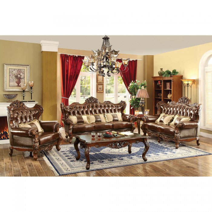 Furniture of America CM6786-SF Jericho Transitional Brown Sofa Set
