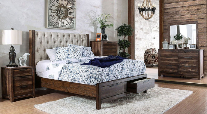 Furniture of America CM7577DR-Q Hutchinson Queen Bedroom Set