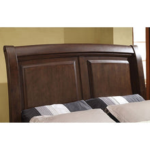 Load image into Gallery viewer, Litchville CM7383EK Contemporary Brown Cherry Eastern King Sleigh Bed