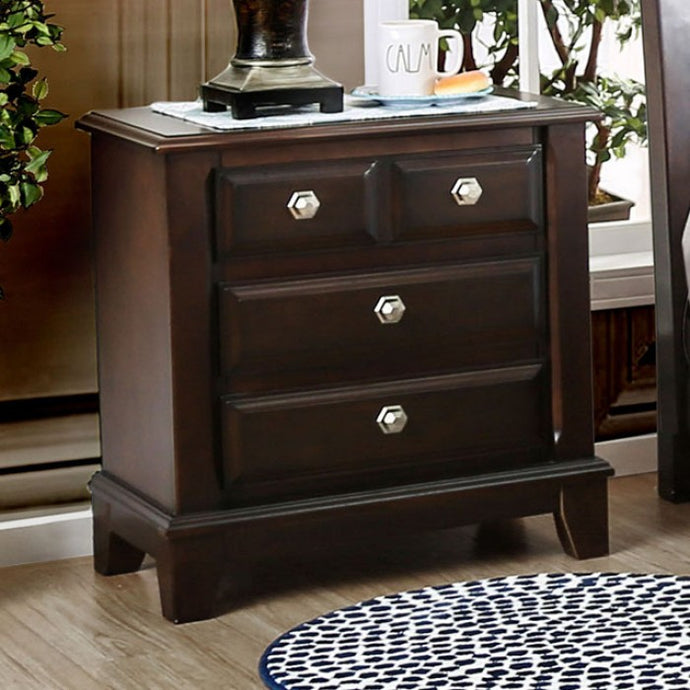 Litchville CM7383N Contemporary Brown Cherry Finish Nightstand