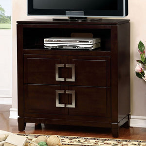 Balfour CM7385TV Transitional Brown Cherry Finish Media Chest
