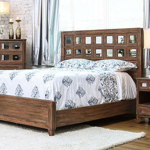 Frontera CM7586EK Transitional Rustic Oak Finish Eastern King Bed