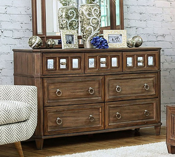 Frontera CM7586D Transitional Rustic Oak Finish Dresser
