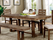 Load image into Gallery viewer, Furniture of America CM3358T Lidgerwood Natural Tone Dining Table
