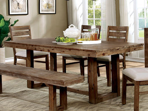Furniture of America CM3358T Lidgerwood Natural Tone Dining Table