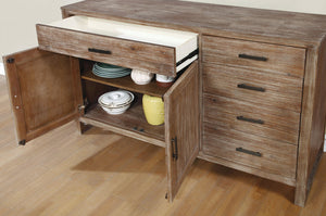 Furniture of America CM3358SV Lidgerwood Natural Tone Finish Server
