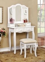 Load image into Gallery viewer, Furniture of America CM-DK6846WH Janelle Transitional White Vanity Set