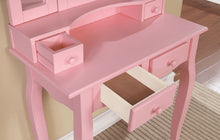 Load image into Gallery viewer, Furniture of America CM-DK6846PK Janelle Transitional Pink Vanity Set