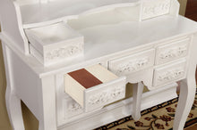 Load image into Gallery viewer, Furniture of America CM-DK6845WH Harriet Transitional White Vanity Set