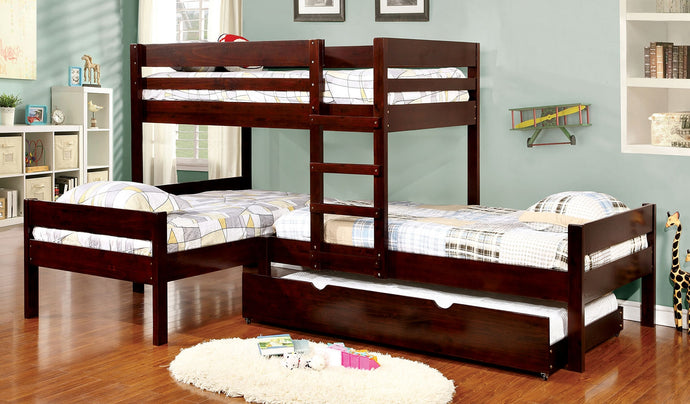 Ranford CM-BK626 Transitional Twin over Twin Twin Trundle Bunk Bed