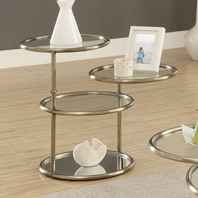 Athlone CM4358E Living Room Champagne Finish End Table