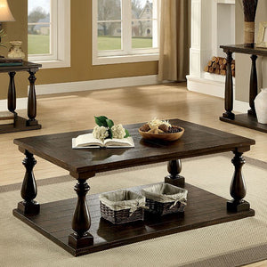 Luan Living Room Dark Walnut Coffee Table CM4420C Furniture Of America