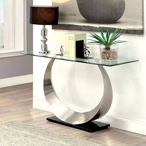 Orla II CM4726S Living Room Silver And Black Finish Sofa Table