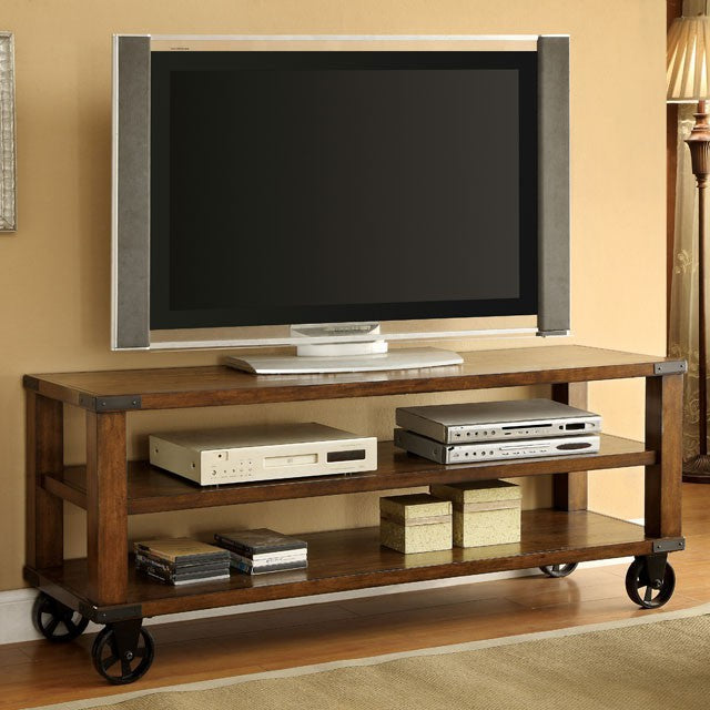Broadus II CM5227-TV Dark Oak Tv Console With Transitional Style