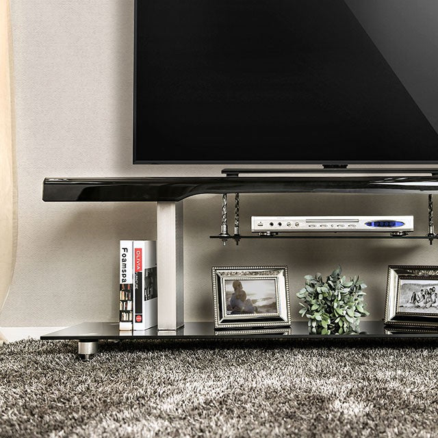 Dietrich CM5231-TV-60 Black Tv Console With Transitional Style