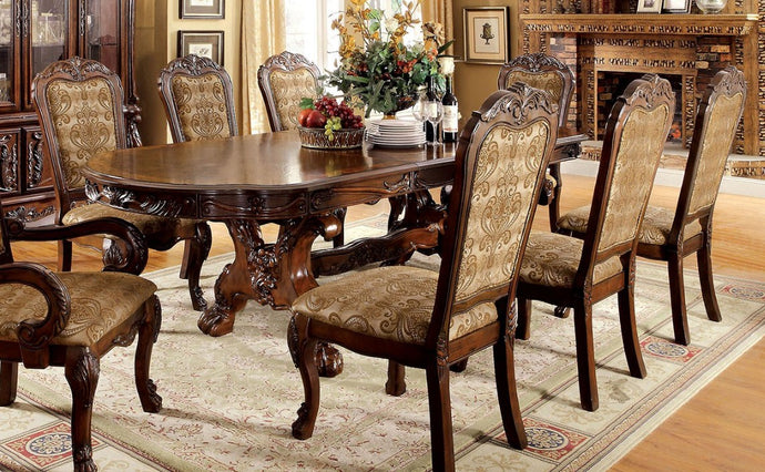 Furniture of America CM3557CH-T Medieve Cherry Oval Dining Table