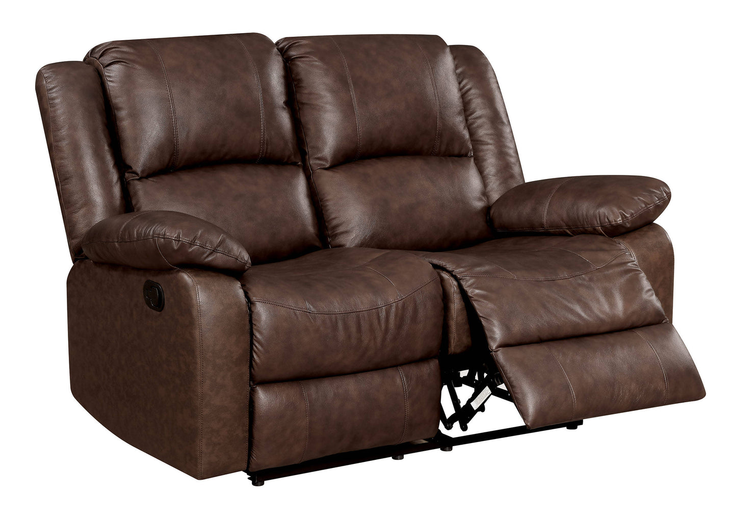 Furniture Of America CM6293-LV Kris Brown Leather Recliner Love Seat