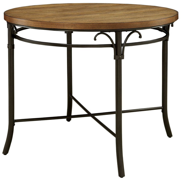 Furniture of America Crosby Industrial Natural Round Counter Height Table