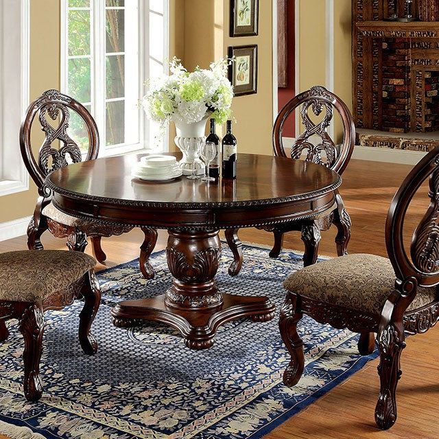 Furniture Of America CM3845CH-RT Tuscany I Antique Cherry Dining Table
