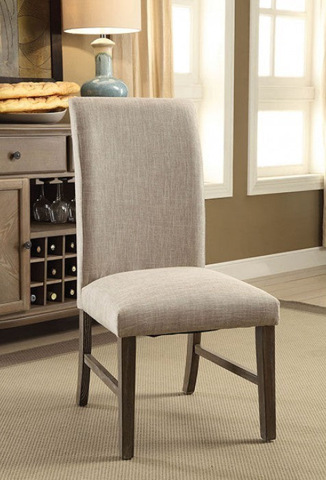 Furniture of America Siobhan II 2 Rustic Dark Oak Side Chair Set of 2