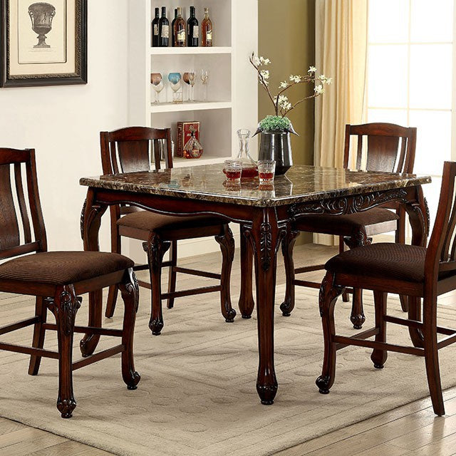 Johannesburg Brown Cherry Dining Table CM3873PT Furniture Of America