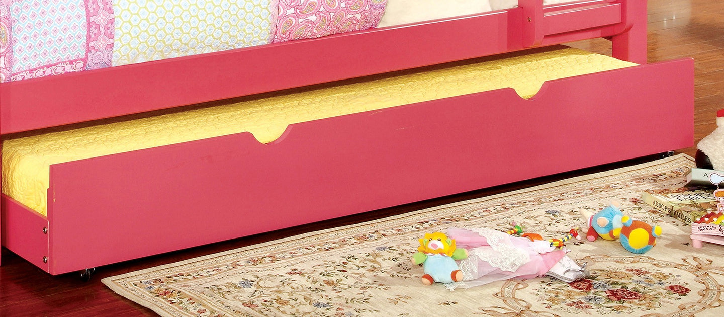Omnus Pink CM-TR452-PK Twin Trundle For Bunk Bed