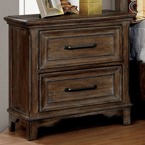 Furniture of America CM7845N Oberon Transitional Rustic Oak Nightstand