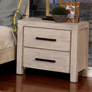 Furniture of America CM7382WH-N Strasburg Rustic Nightstand