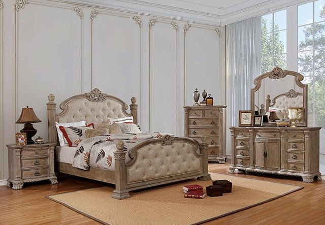 Furniture of America CM7800CK 4 Piece Montgomery Cal.King Bedroom Set