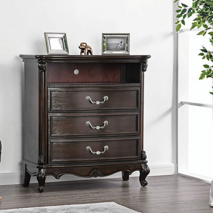 Furniture of America CM7426TV Bethesda Espresso Media Chest