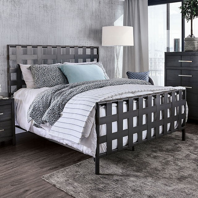 Furniture of America CM7758T Earlgate Industrial Gray Twin Bed