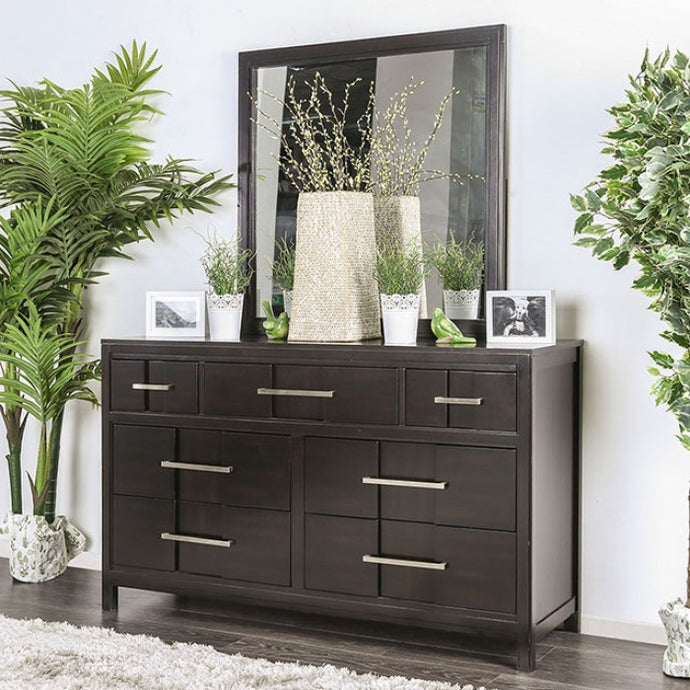 Furniture of America CM7580EX-D Berenice Espresso Dresser Mirror Set