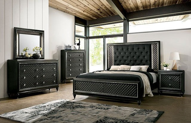Furniture of America CM7584Q Demetria 4 Piece Queen Bedroom Set