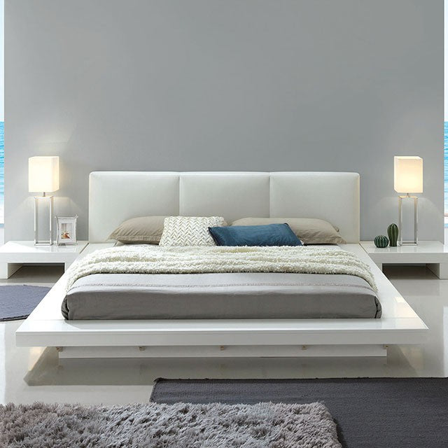 Furniture of America CM7550Q Christie White Finish Queen Bed