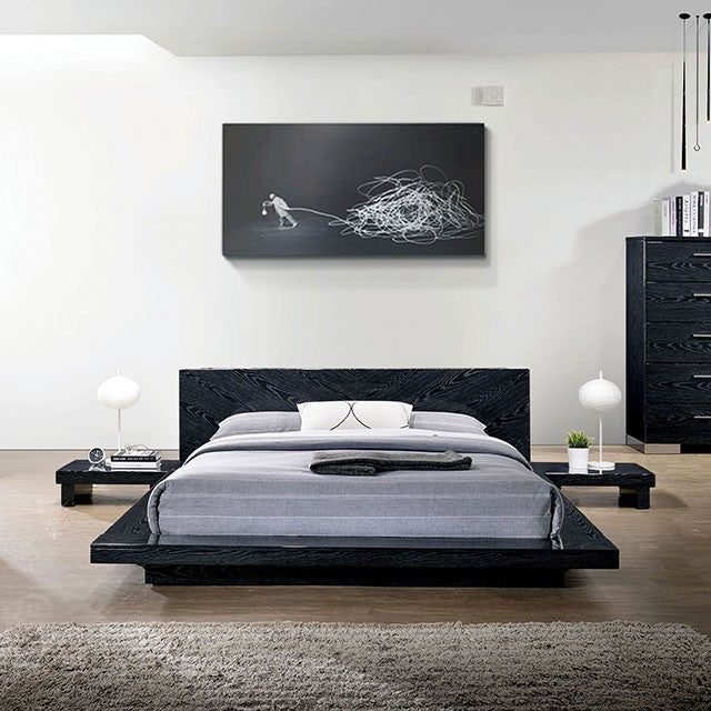 Furniture of America CM7540BK-Q Christie Black Finish Queen Bed