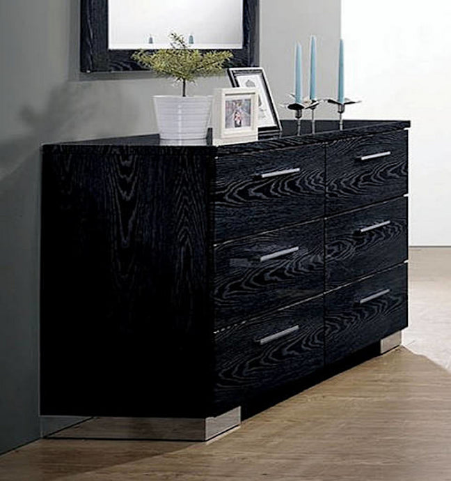 Furniture of America CM7550BK-D Christie Black Finish Dresser