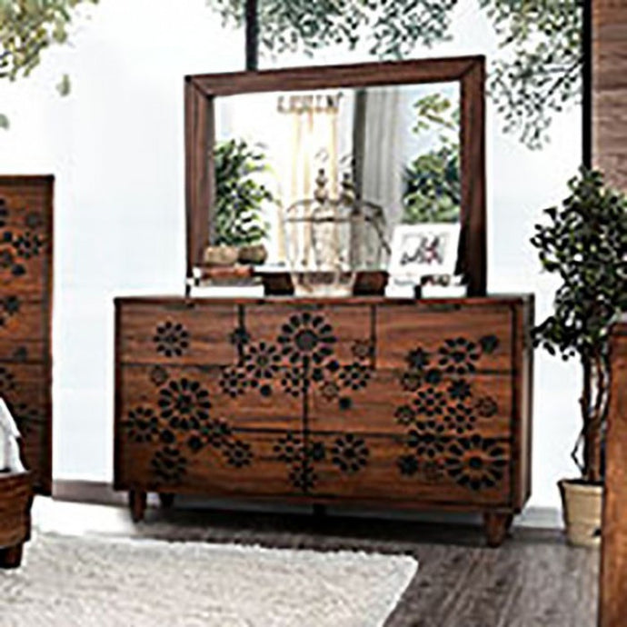 Furniture of America CM7362D Amarantha Transitional Dresser Mirror Set
