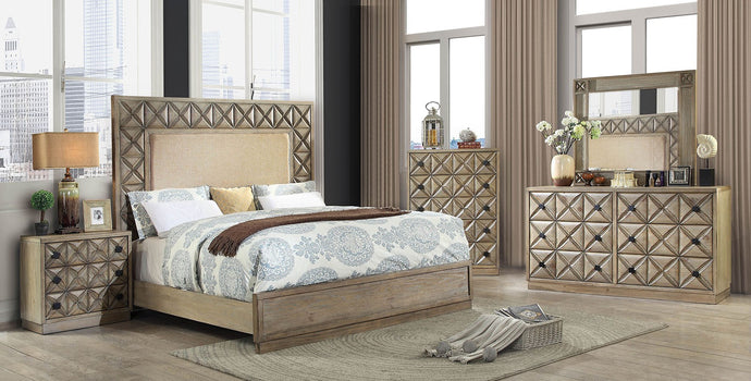 Furniture of America CM7393CK 4 Piece Markos Cal.King Bedroom Set