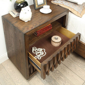 Furniture of America CM7394N Eutropia Warm Chestnut Nightstand