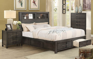 Furniture of America CM7500GY-Q Karla Transitional Gray Queen Bed