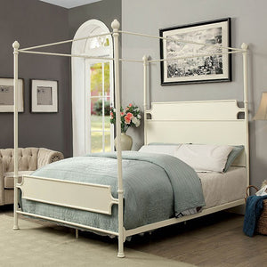 Furniture of America CM7424WH-CK Beatrix White Finish Cal.King Bed