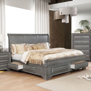 Furniture of America CM7302GY-CK Brandt Transitional Gray Cal.King Bed