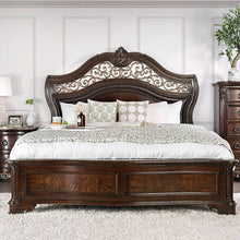 Load image into Gallery viewer, Furniture of America CM7311CK Menodora Brown Cherry Cal.King Bed