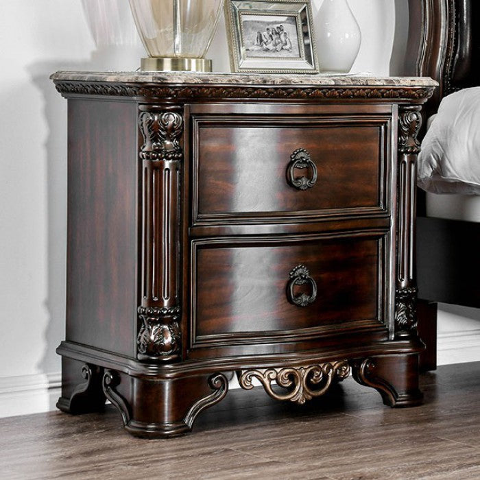 Furniture of America CM7311N Menodora Brown Cherry Finish Nightstand