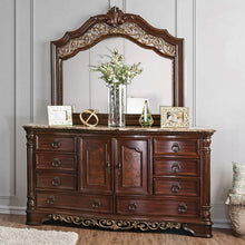 Load image into Gallery viewer, Furniture of America CM7311D Menodora Brown Cherry Dresser Mirror Set